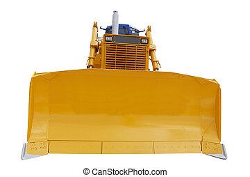 bulldozer - The image of bulldozer under the white ...