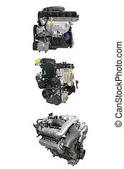 engines - The image of engines under the white background