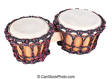 african drum - The image of ethnic african drum under the...