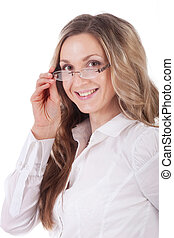 girl with a glasses