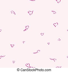 the image of hearts, seamless pattern