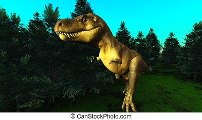 dinosaur - The image of living dinosaur