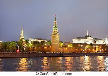 The image of night Moscow Kremlin