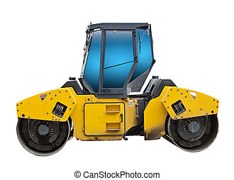road roller - The image of road roller under the white ...