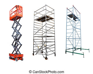scaffolds and lift - The image of scaffolds and lift under ...