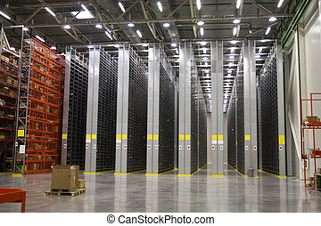 warehouse - The image of shelves in the warehouse