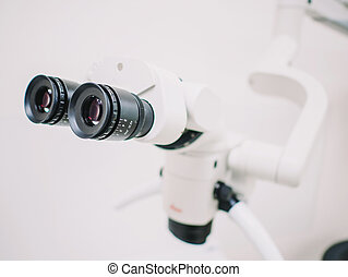The image of the professional Dental endodontic binocular...