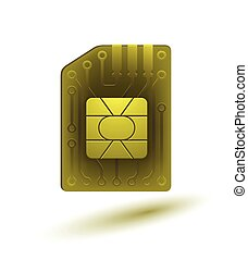 The image of the SIM card.