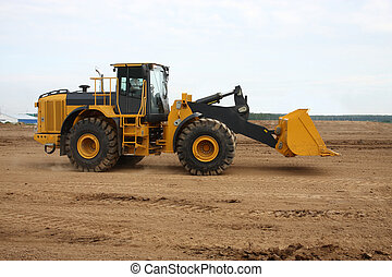tractor - The image of working tractor