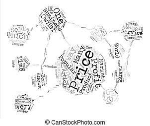 The Impact of Price Popularity on Profits text background word cloud concept