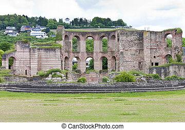 The Imperial Roman Baths, Trier, Rhineland-Palatinate, Germany