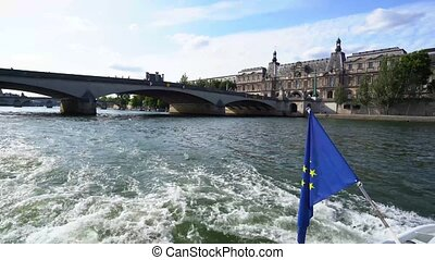The in Paris, France - Pont Royal in Paris, view from the ...