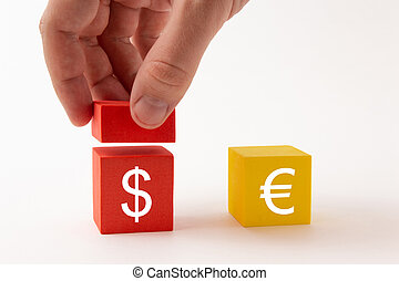 The increase in the dollar against the euro, the exchange rate
