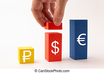 The increase in the dollar against the ruble and the euro, exchange rate
