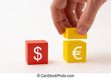 The increase in the euro against the dollar, the exchange rate