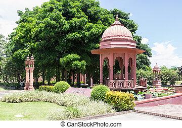 the indian design dome pavilion