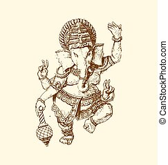 he Indian god of Ganesha.