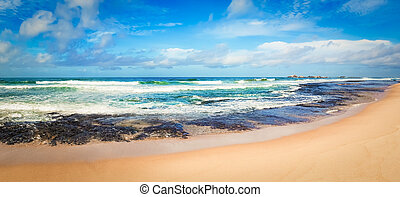 The Indian ocean landscape. Beautiful view of a sea. Panorama