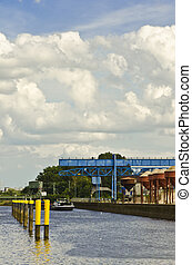 the industrial port
