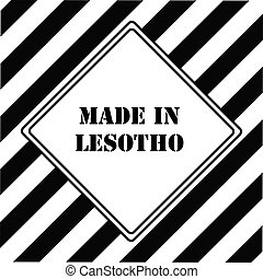 Made in Lesotho - The industrial symbol is Made in Lesotho