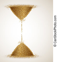 The Infinity - Hourglass or the infinity of time. Eps 10