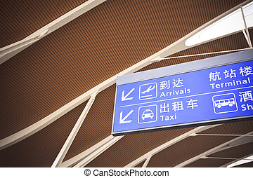 information sign - the information sign in the shanghai...