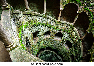 The Initiation Well top view with no people - Wide angle top...