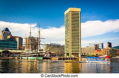 The Inner Harbor, Baltimore, Maryland.