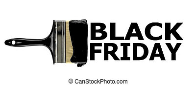 "The inscription ""Black Friday"" in black paint on a white background written with a brush. isolate"