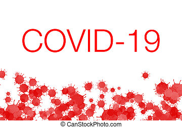 The inscription Covid-19 on a white background. Medical concept of coronavirus. 3D illustration.