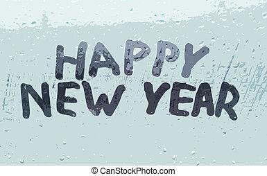 "The inscription ""happy new year"""