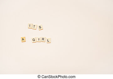 "The inscription ""It's a girl"""
