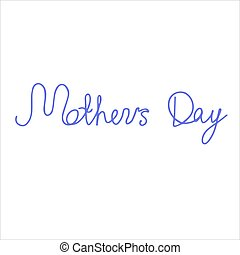 The inscription Mother s Day is purple. Isolate on a white background.