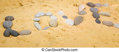 The inscription on the sand