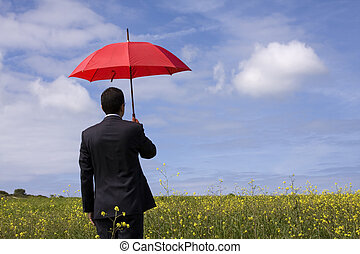 The insurance agent in the field, giving you the best ...