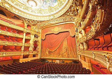 the interior of grand Opera in Paris - the beautiful ...