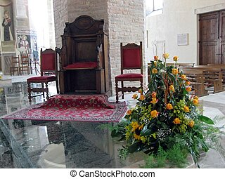 The interior of the Catholic Church