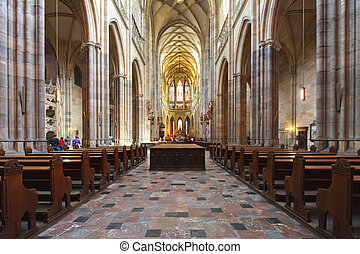 The interior of the Prague cathedral