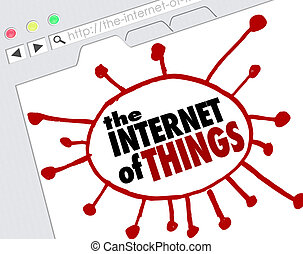 The Internet of Things Website Browswer Screen Online Network Connections
