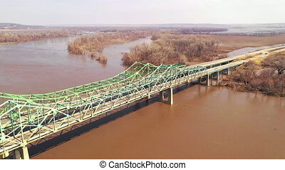 The Interstate 680 Bridge over the Missouri River Closed for...