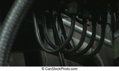 The intertwining of the hose, trunk lines and tubes