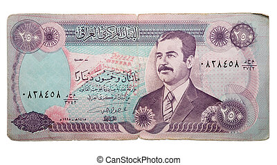 the iraq dinars isolated with clipping path