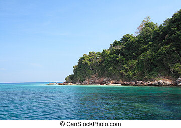 the island in Thailand