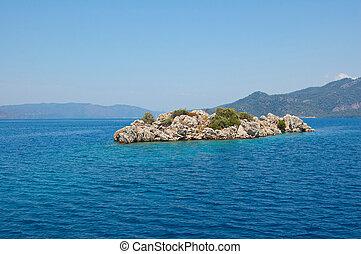 the island in the Aegean Sea