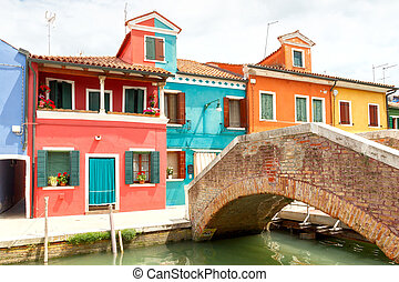 The island of Burano. Italy.