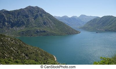 The island of Gospa od Skrpela, Kotor Bay, Montenegro. View...