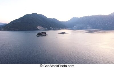 The island of Gospa od Skrpjela, Kotor Bay, Montenegro....