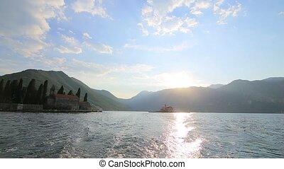 The island of Gospa od Skrpjela, Kotor Bay, Montenegro. -...
