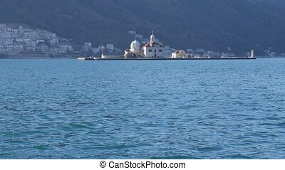 The island of Gospa od Skrpjela, Kotor Bay, Montenegro.