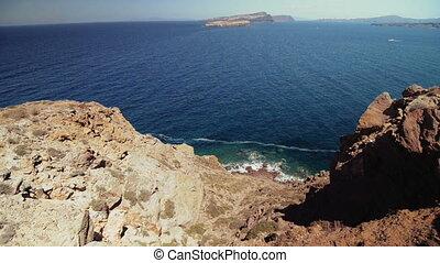 the island of Santorini, Greece, Caldera
